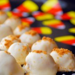 White Chocolate Pumpkin Truffles with Biscoff