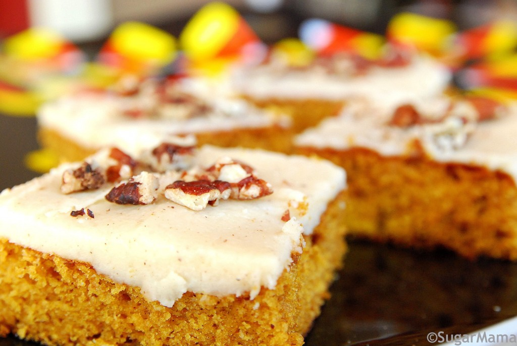 Pumpkin Sheet Cake with Browned Butter Pecan Frosting 1