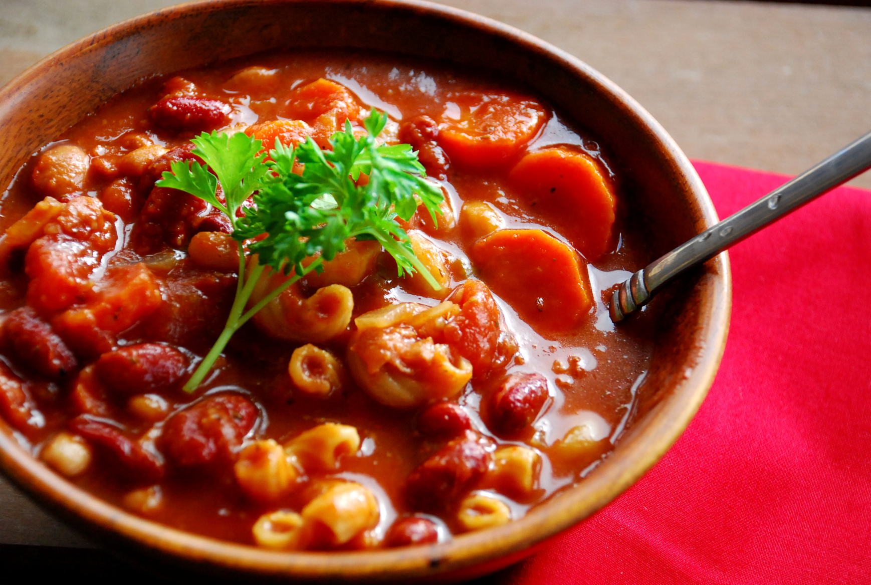 Olive Garden Knockoff Pasta Fagioli Soup In The Crock Pot