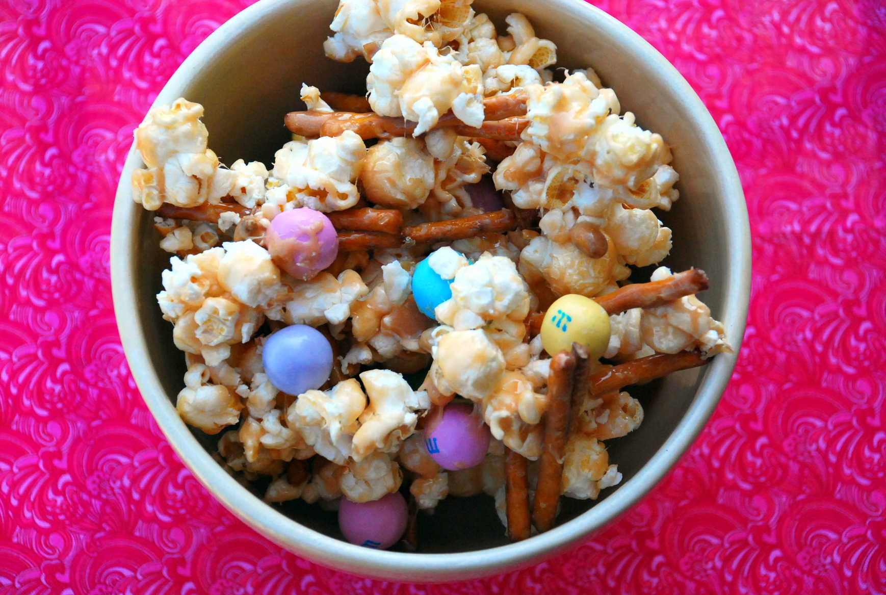 Salted Caramel Easter Popcorn Recipe — Dishmaps