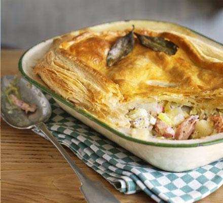 ham leek and potato pie