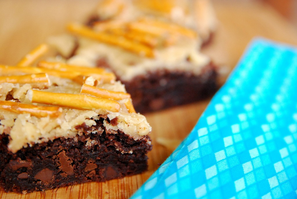 starts with a mix caramel pretzel brownies 1_small