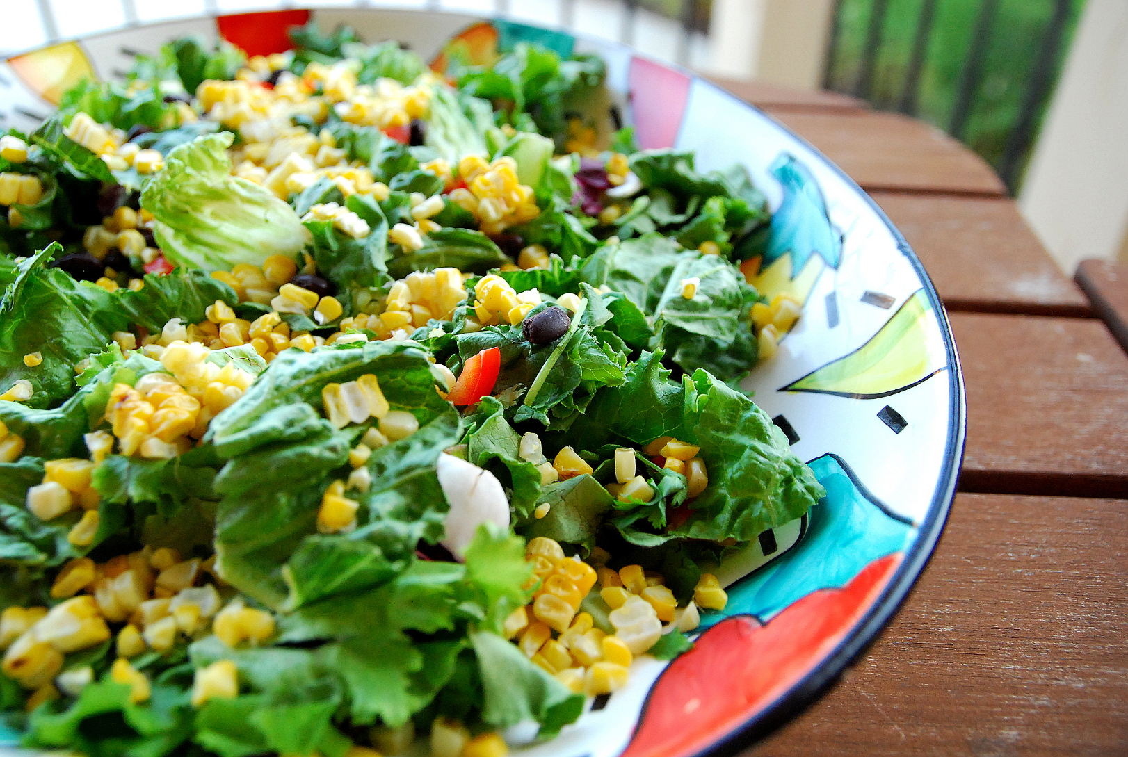 Fiesta Summer Salad with Cilantro Lime Dressing