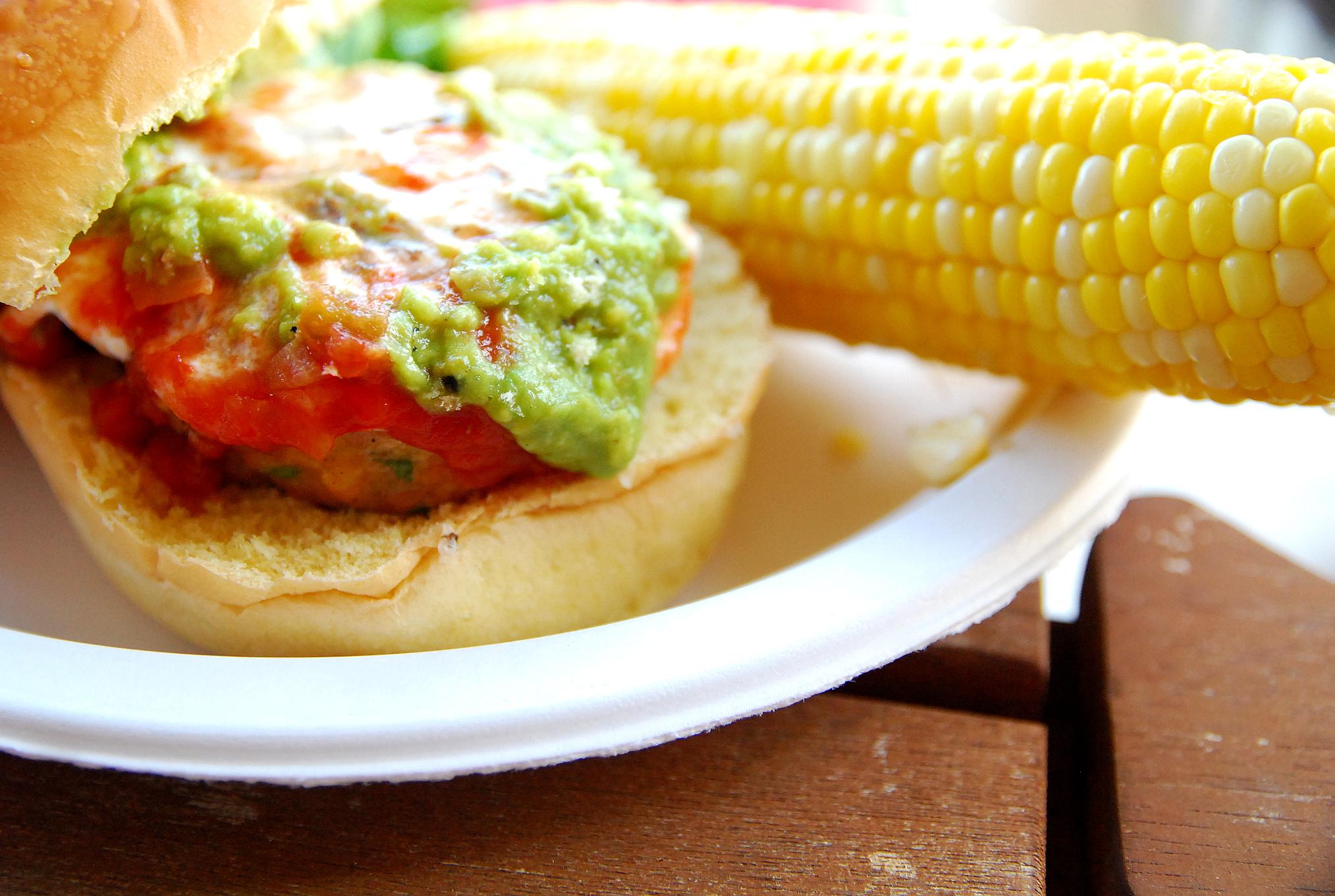 Holy Guacamole! Cheddar Jalapeno Turkey Burgers