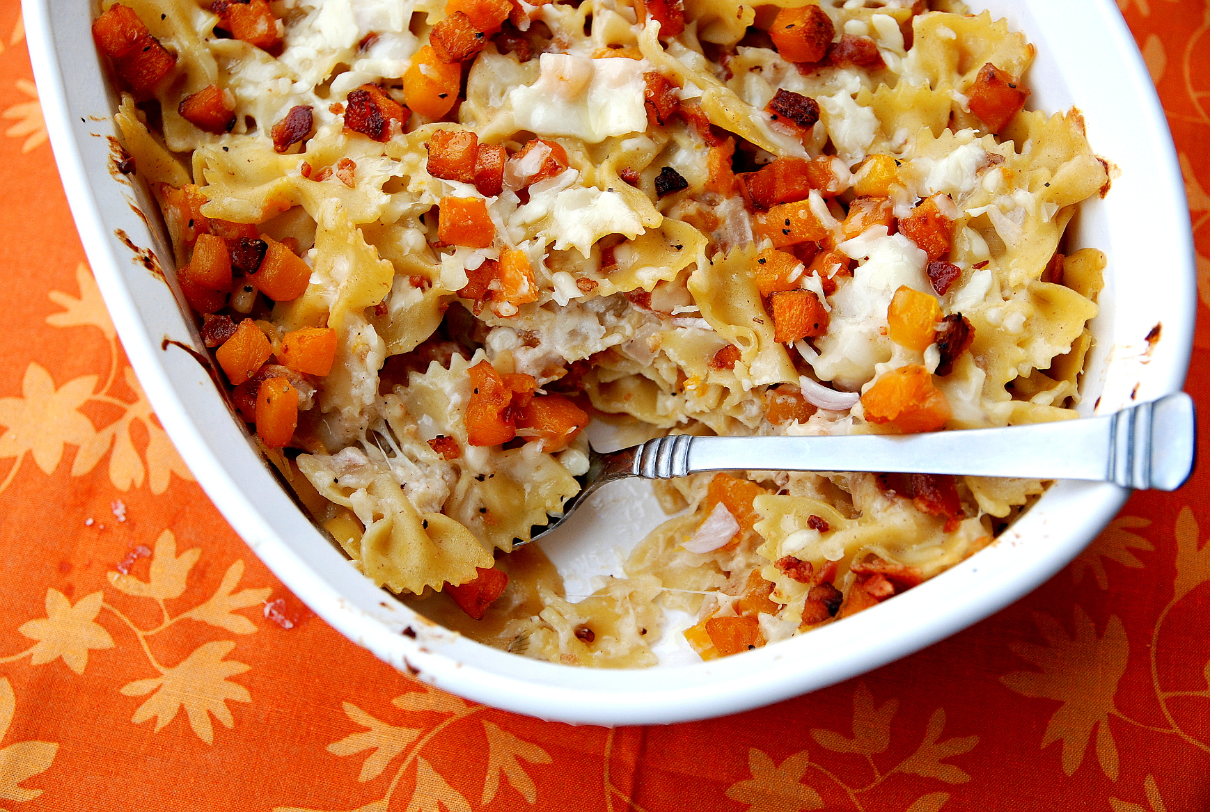 Harvest Butternut Bowtie Pasta with Bacon