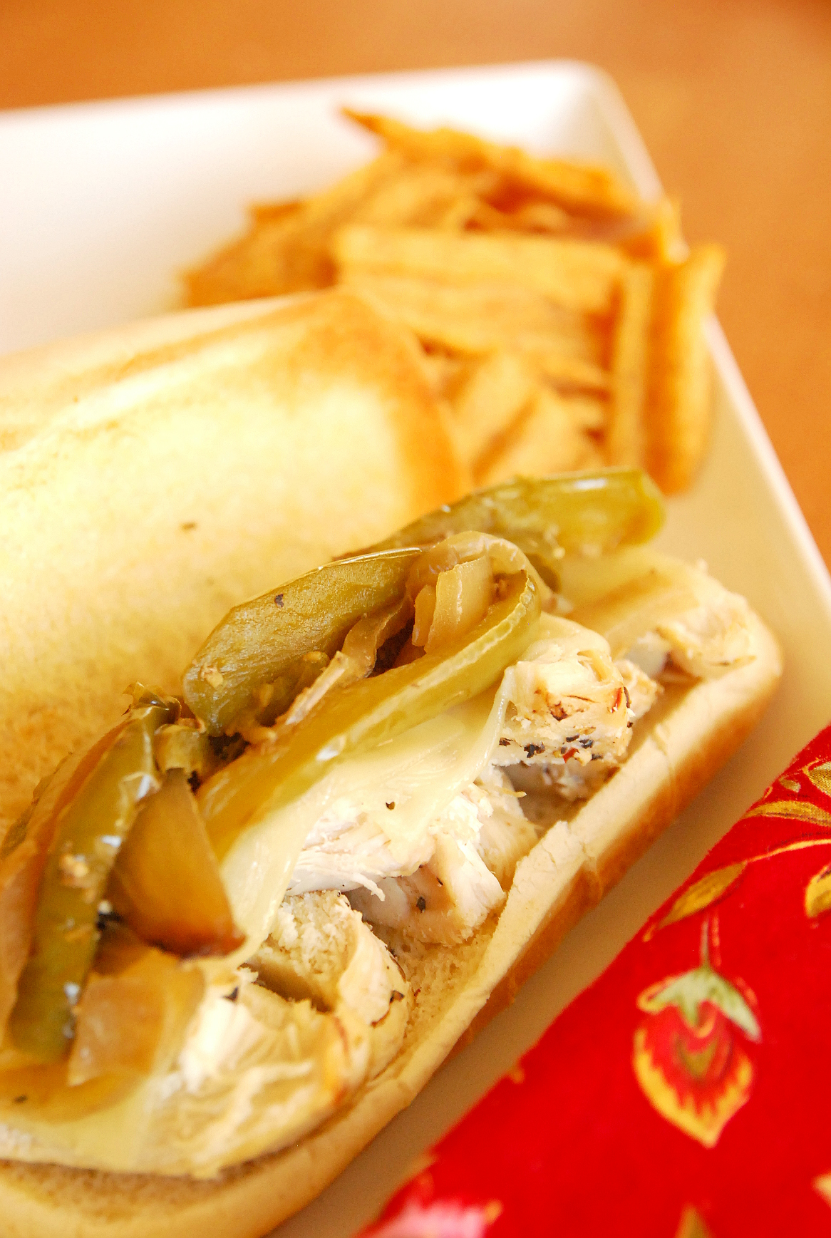 Crock Pot Chicken Philly Sandwiches