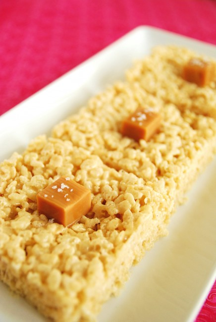 Oscar-worthy: Salted Caramel Krispie Treats