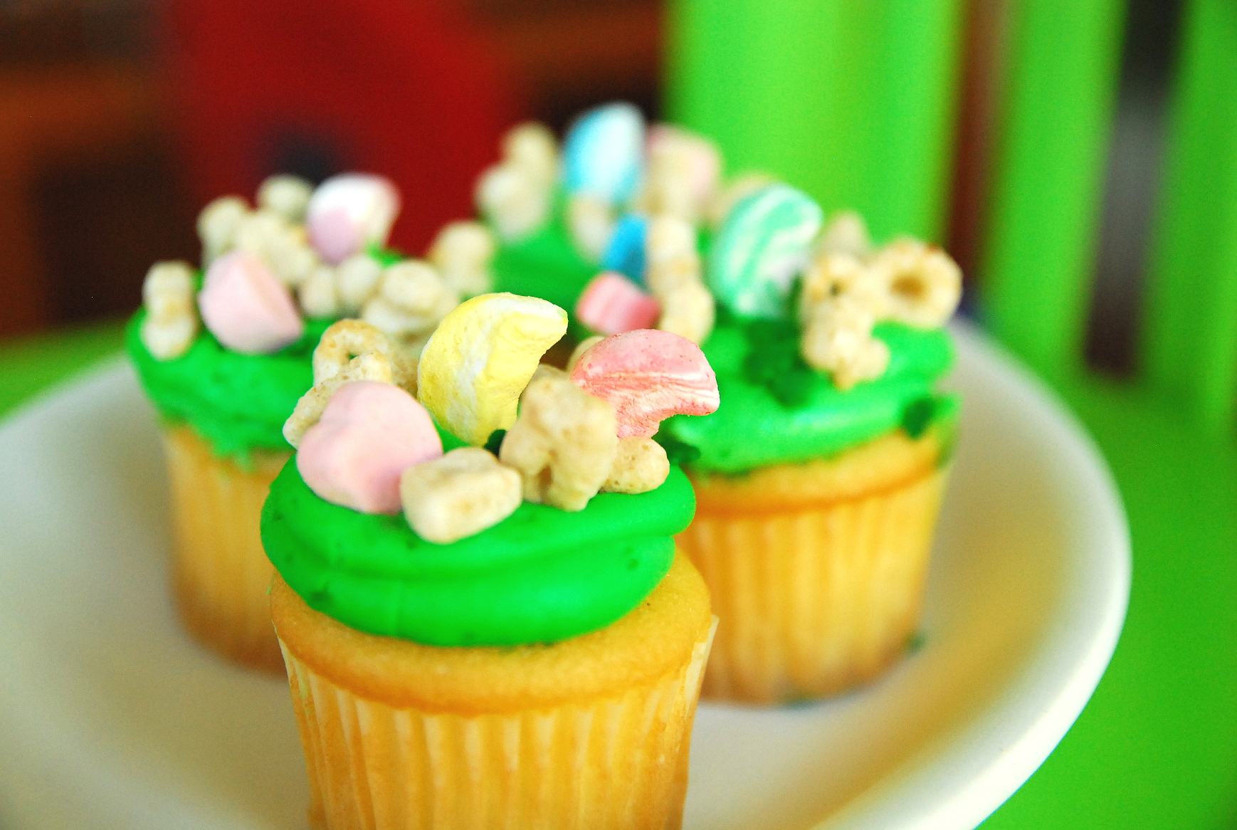 Last-Minute Lucky Charms Cupcakes