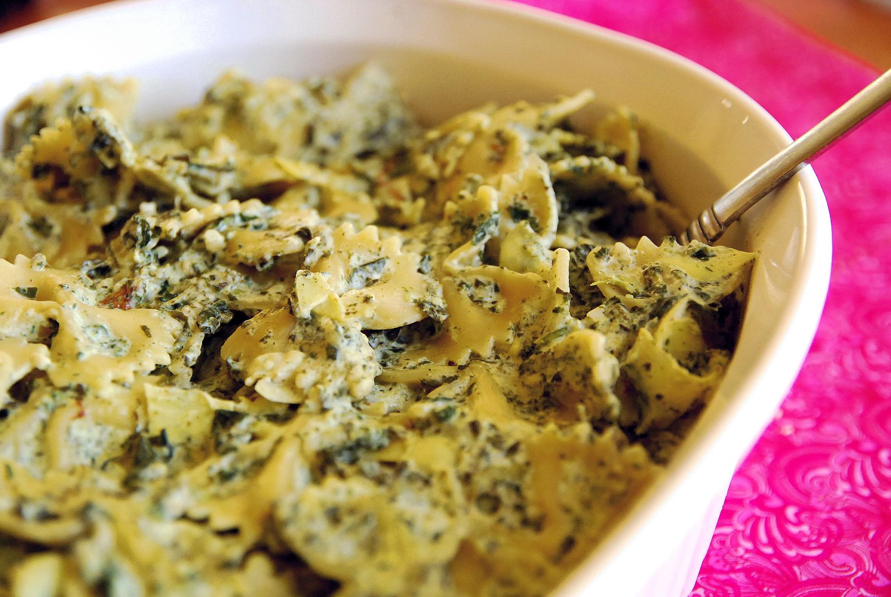Spinach Artichoke Bowtie Pasta