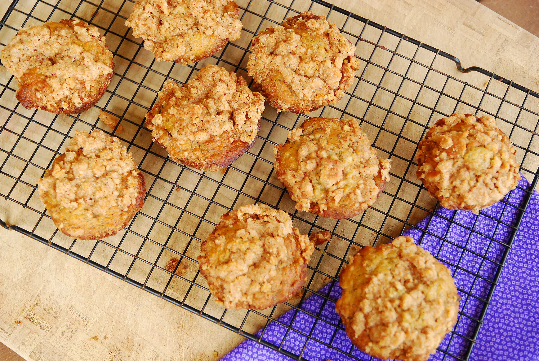 Banana Muffins with Graham Cracker Streusel
