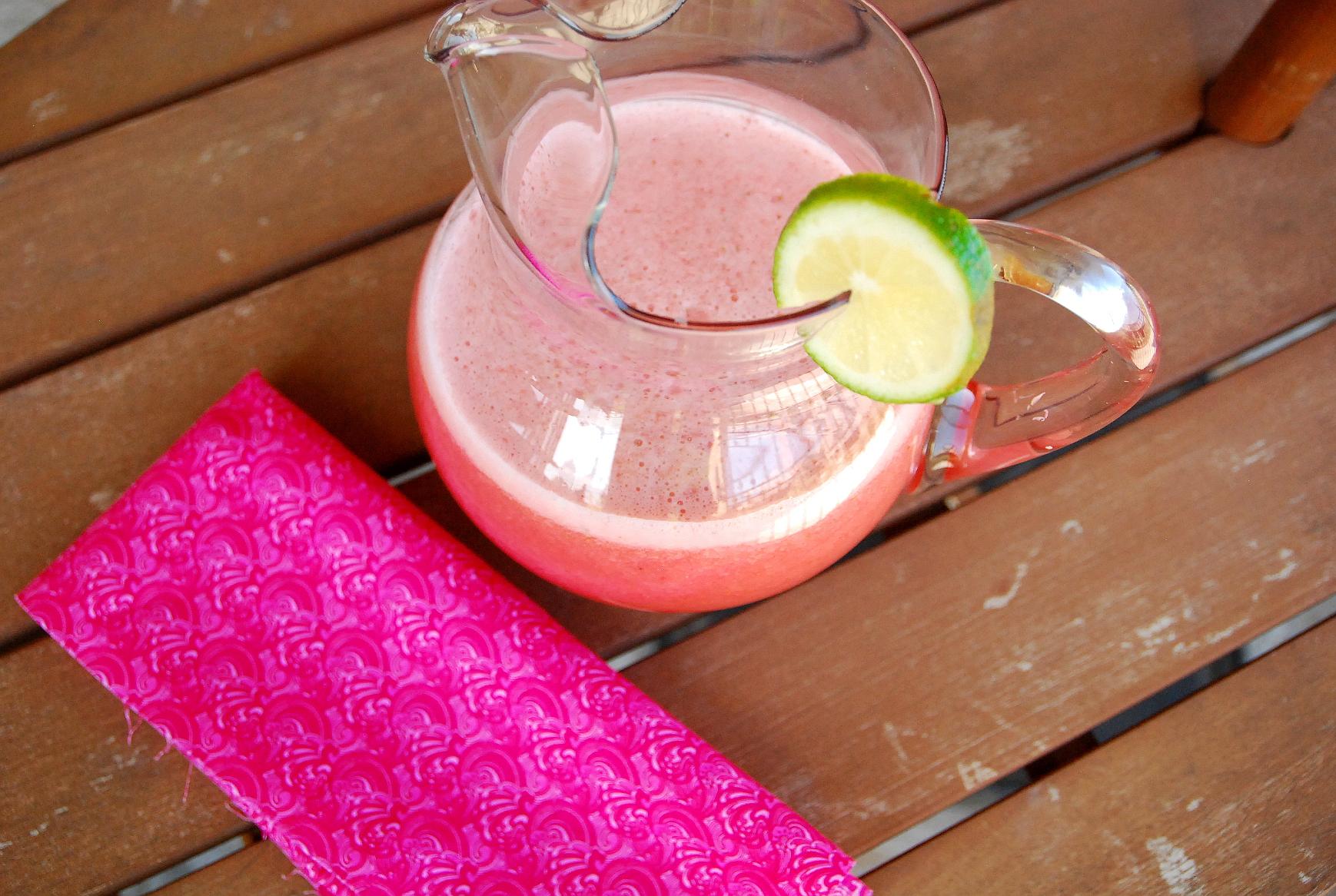 Pucker Up! Homemade Strawberry Limeade