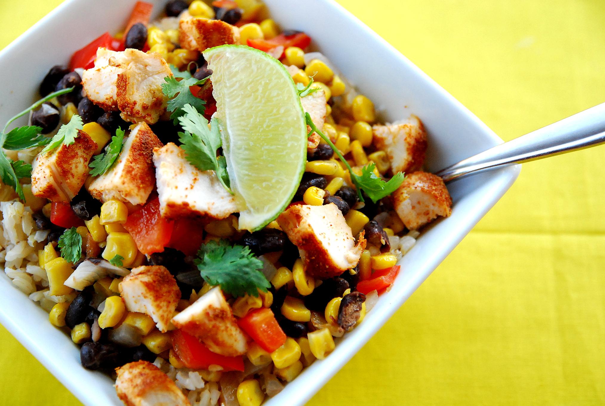 Chipotle Copycat: Chicken Burrito Bowls