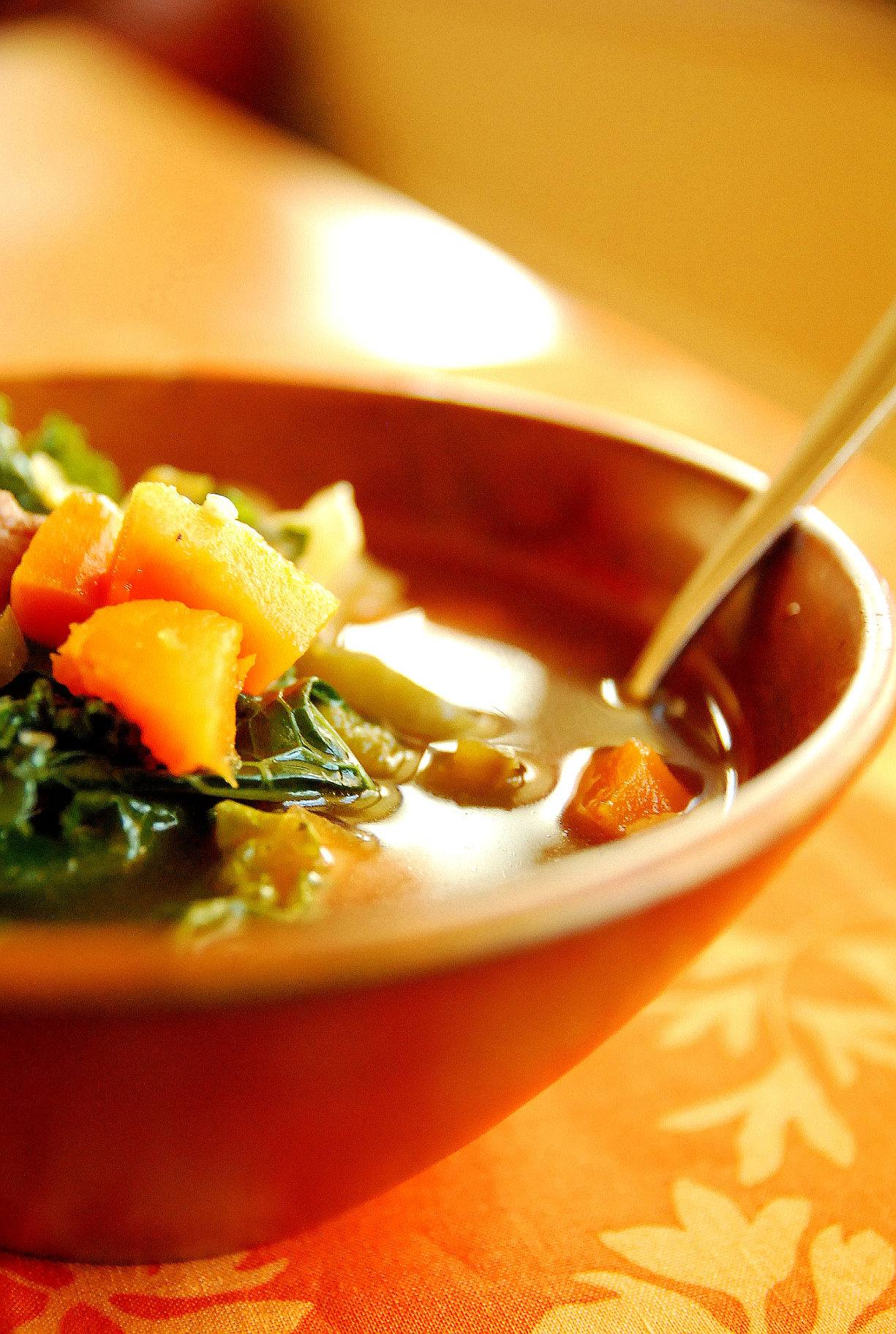 Sweet Potato, Sausage and Kale Soup