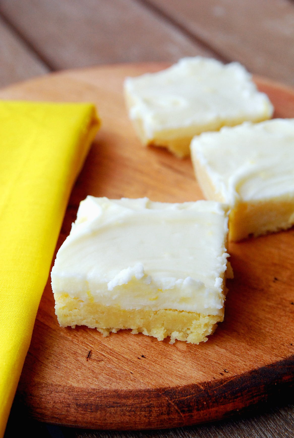 Frosted Lemon Sugar Cookie Bars