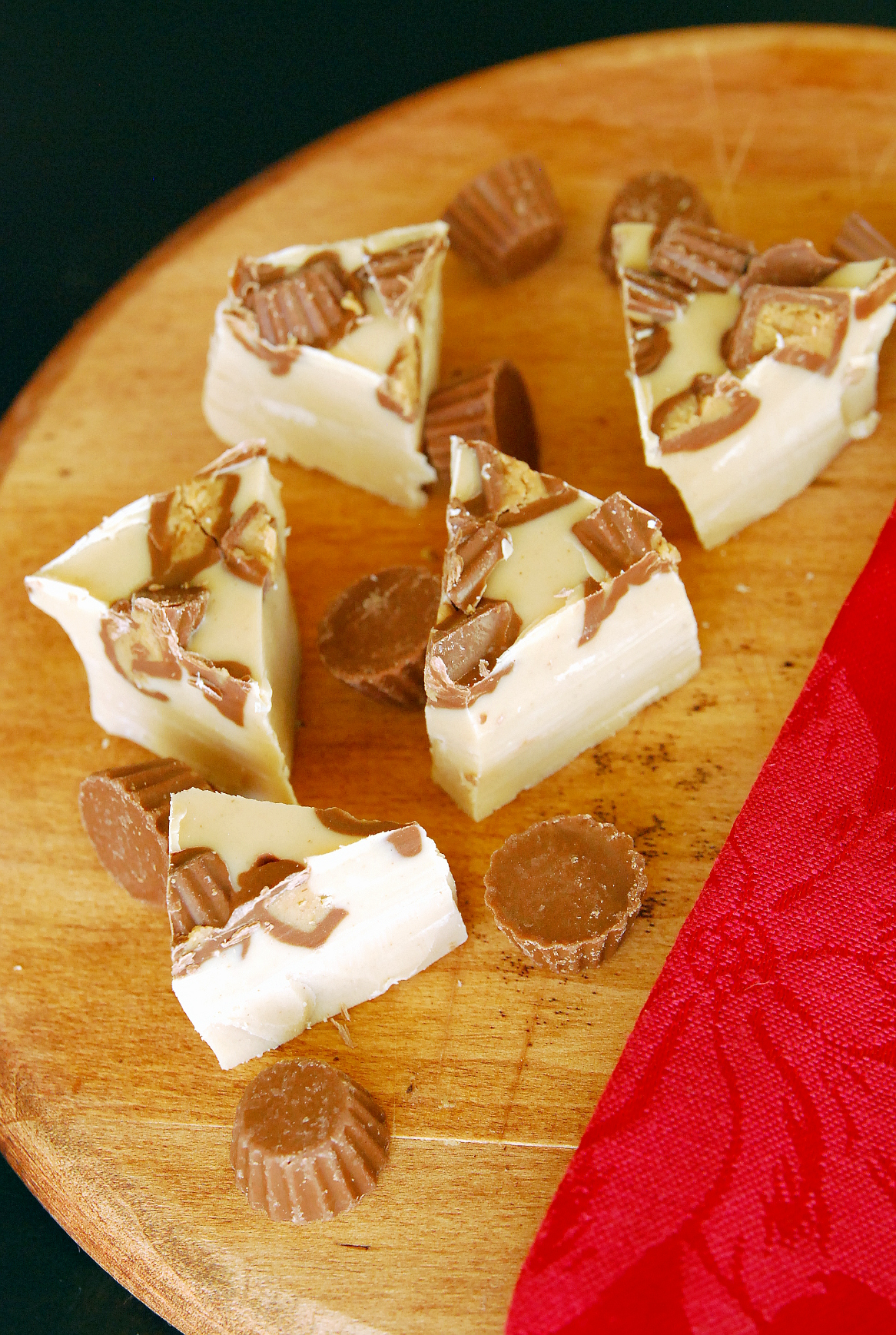 Holiday Cookie Countdown: White Chocolate Peanut Butter Cup Fudge